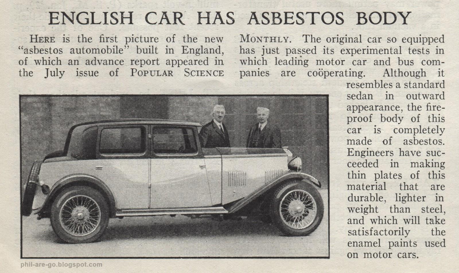 automobili in amianto